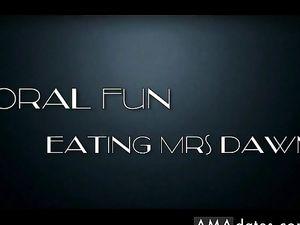 MrR eating Mrs Dawn