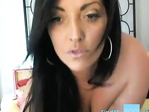 Busty webcam MILF squirts -v2