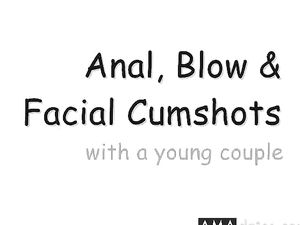 Anal, Blowjob & Facial with a Young Couple