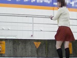 Japanese Crossdresser Outdoor Flashing. -v2