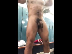 Big black cock in gym