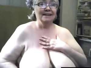 The fat and saggy gran is singing and...