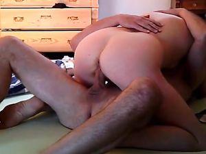 Redhead amateur milf rides cock