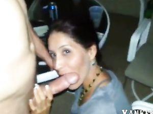 Girl Blows Boyfriend at Party