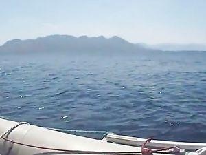Fuck hot ass girlfriend in boat -v4