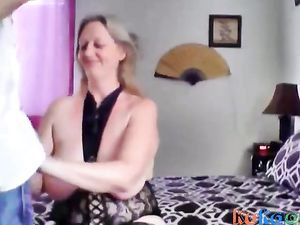 Hung Ginger gives MILF multi orgasms