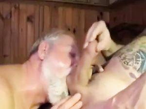 Polarbear Daddy Sucks & Licks Balls & Eats...