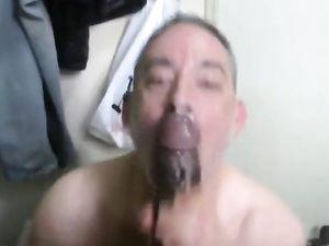 Big black cock - facial -v3