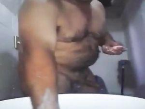Str8 pakistani daddy shower time