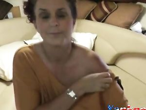 Mature Couple Fuck On The Couch -v2