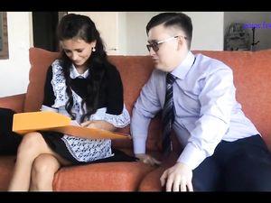 schoolgirl hand job and blow job teacher