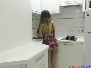 Couple Having Sex In The Kitchen -v2