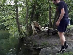 Skinny-dip in public, getting caught...
