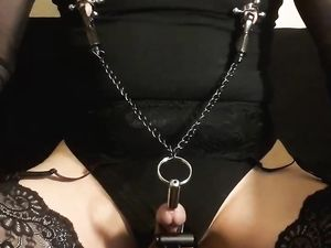 Kinky maso slut remote e-stim session June...