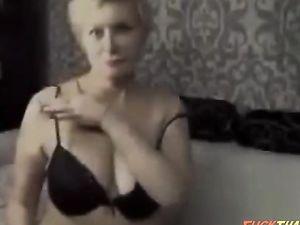 Wondrous blond haired slutty mature lady...