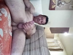 STROKING MY COCK!!
