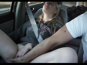 Man masturbating during driving