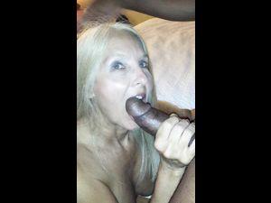 Blonde grandma gets so wet...