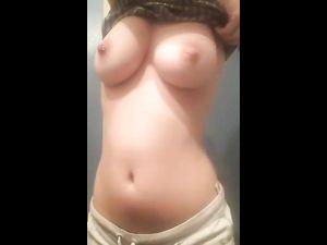 Girlfriend exposing on camera
