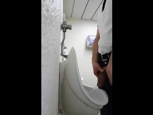 Hidden cam near urinal in the...