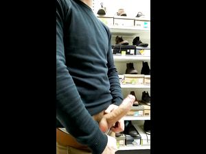 Guy bouncing his erect cock...