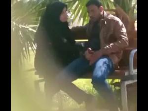 Arabian woman sucking cock in public place