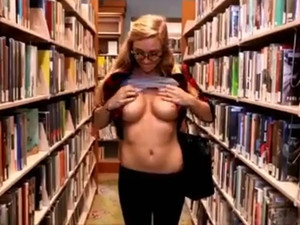 College coed showing juicy big tits in the...
