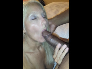 Solid BBC in her mouth get...