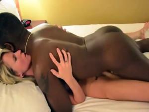 Nigga cumshot deep in the white lady pussy
