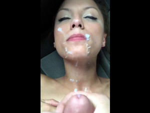 Sexy milf facial cumshot, she just loves...