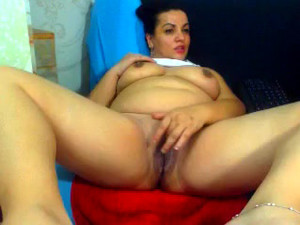 Chubby wife demonstrated her twat, amateur...