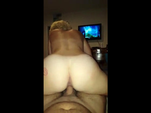 Crazed granny with huge booty straddled my...