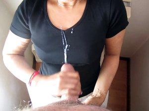 Asian mistress, making her...