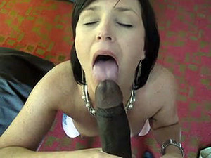 Sexy MILF doing blowjob for...