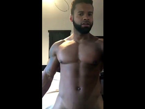 Black man sings rap and dancing naked in...