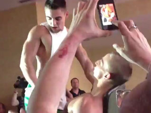 Two gay boys show amazing Striptease at...