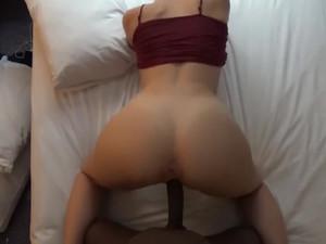 Cheating white slut takes hard black dick