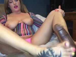Big tits slut with pierced nipples doing...