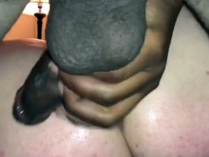 White pussy sweaty and drills by black coc...