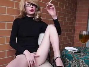 Daily break for cigarette and masturbation