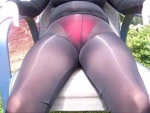 Tight nylon pantyhose