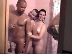 Real swingers real swingers shower room...