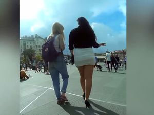 Nice street upskirt video from...