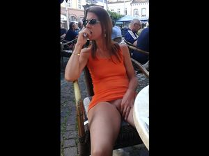 French mature woman flashing...