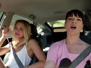 Two european lesbian girlfriends teasing...